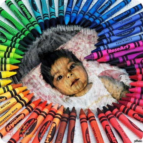 قلب مداد رنگی