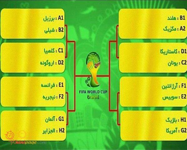 بازي هاي جام جهاني در مرحله 1،16