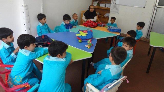 محمد در کلاس پیش دبستانی